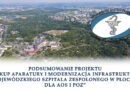 """Podsumowanie projektu """"Zakup aparatury i modernizacja infrastruktury WSzZ w Płocku dla AOS i POZ"""""""