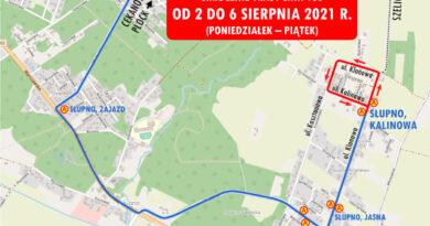 Autobus linii 130 nie dojedzie do Szelig. Trwa budowa mostu tymczasowego