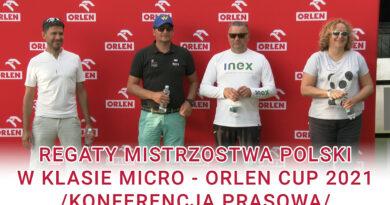 Regaty Mistrzostwa Polski w klasie MICRO ORLEN CUP 2021 /konferencja prasowa/